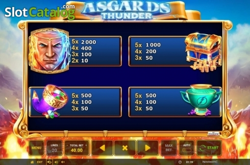 Ecran11. Asgard's Thunder (Slot video din Green Tube)