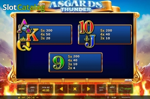 Ecran12. Asgard's Thunder (Slot video din Green Tube)