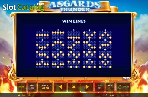 Ecran13. Asgard's Thunder (Slot video din Green Tube)