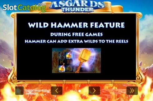 Ecran2. Asgard's Thunder (Slot video din Green Tube)