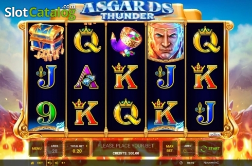 Ecran3. Asgard's Thunder (Slot video din Green Tube)