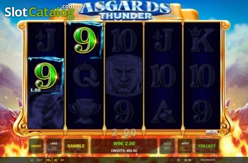 Ecran5. Asgard's Thunder (Slot video din Green Tube)