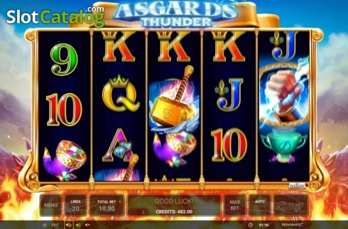 Ecran4. Asgard's Thunder (Slot video din Green Tube)