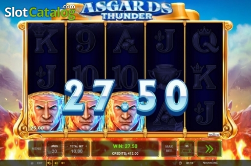 Ecran6. Asgard's Thunder (Slot video din Green Tube)