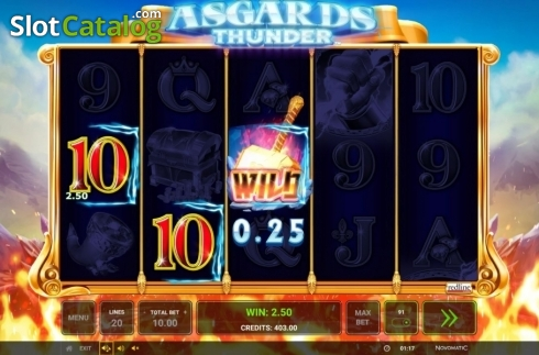 Ecran7. Asgard's Thunder (Slot video din Green Tube)
