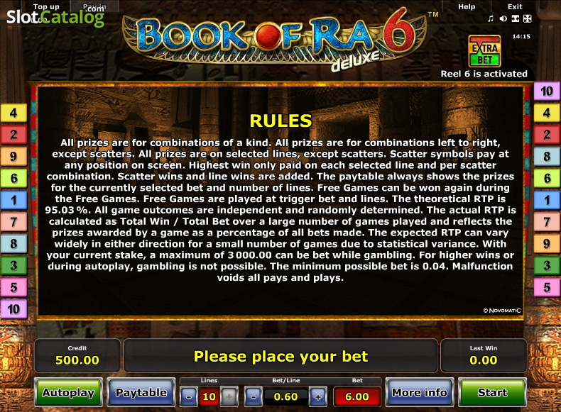 book of ra rules