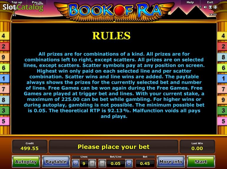 Slot book of raa