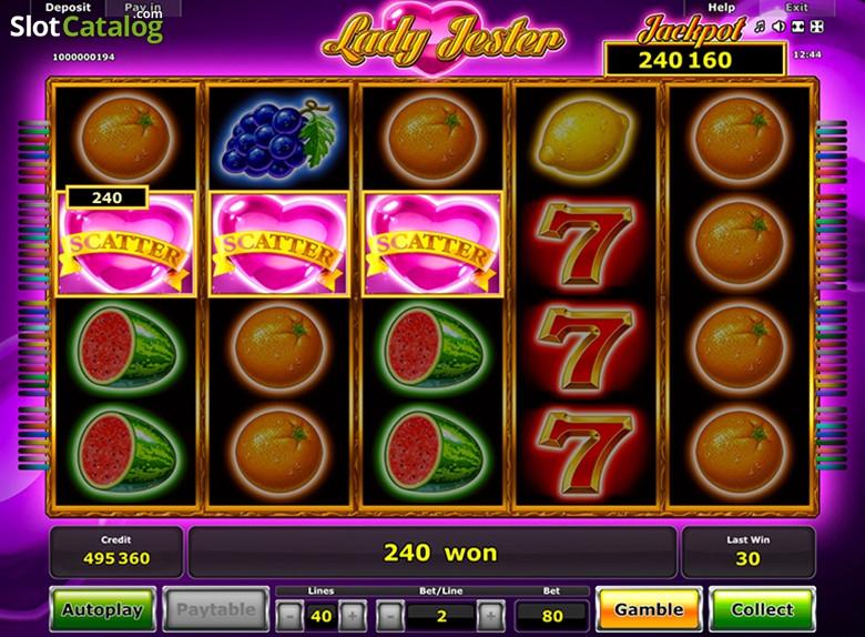 Lady Jester Slot Machine