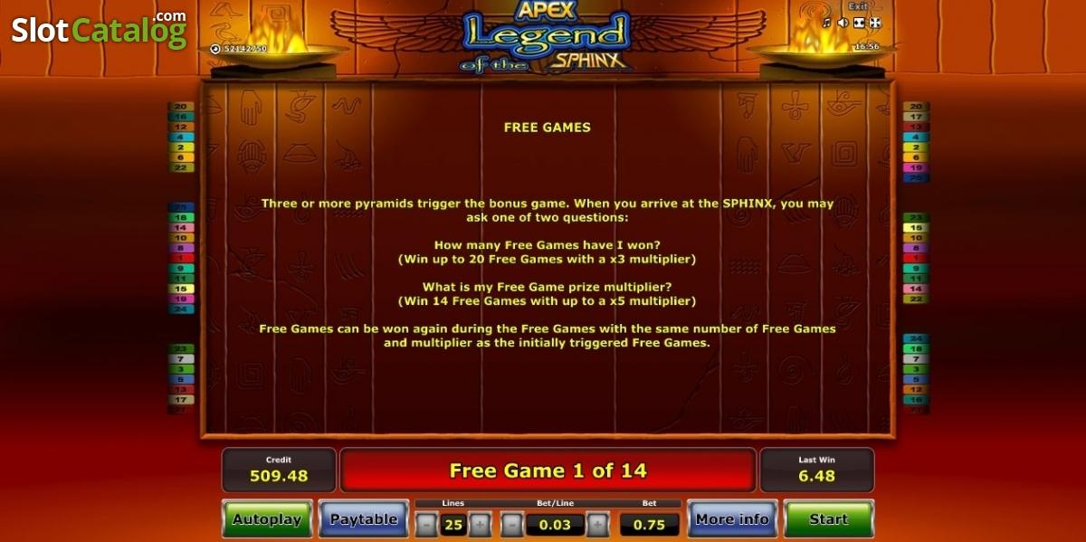 Spiele Legend Of The Sphinx - Video Slots Online