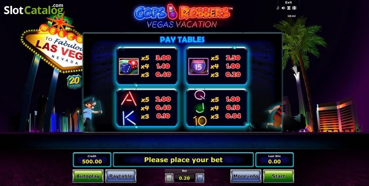 Spiele Cops N Robbers: Vegas Vacation - Video Slots Online