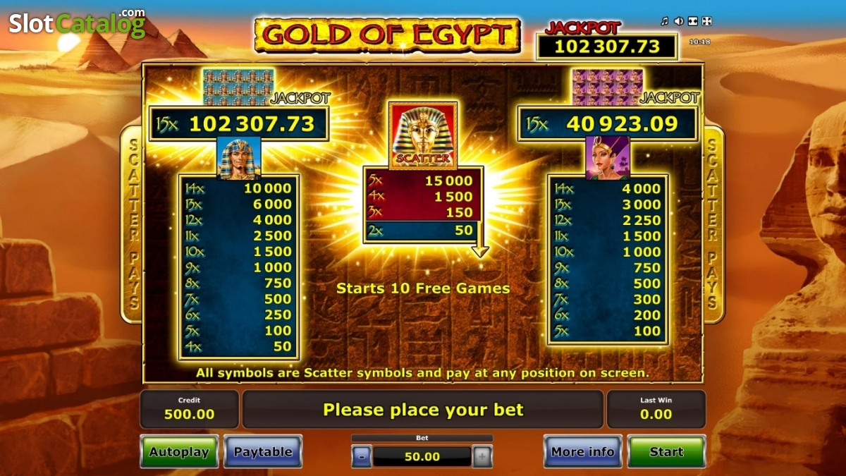 Review of gold of egypt video slot from green tube slotcatalog paytable 1 buycottarizona Image collections