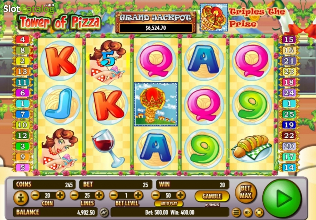 Tower of Pizza No Download Slot Game