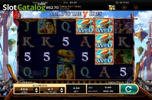 Obrazovka9. Sailing The 7 Skies (Video Slot z High 5 Games)