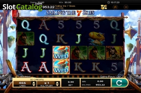 Obrazovka10. Sailing The 7 Skies (Video Slot z High 5 Games)