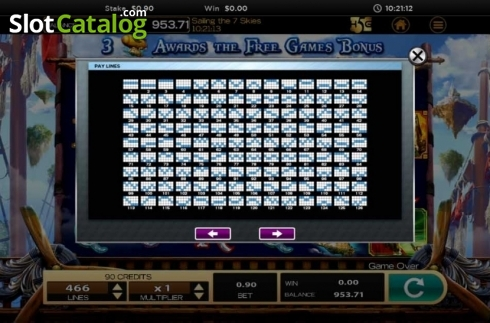 Obrazovka17. Sailing The 7 Skies (Video Slot z High 5 Games)