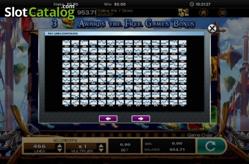 Obrazovka19. Sailing The 7 Skies (Video Slot z High 5 Games)