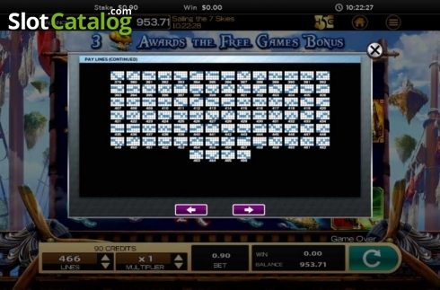 Obrazovka20. Sailing The 7 Skies (Video Slot z High 5 Games)
