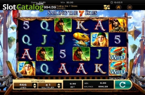 Obrazovka2. Sailing The 7 Skies (Video Slot z High 5 Games)