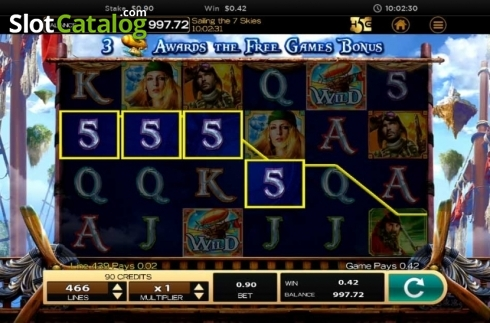 Obrazovka3. Sailing The 7 Skies (Video Slot z High 5 Games)