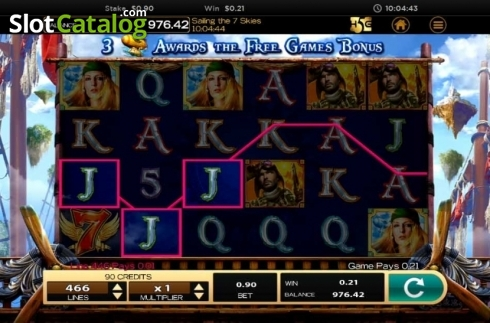 Obrazovka4. Sailing The 7 Skies (Video Slot z High 5 Games)