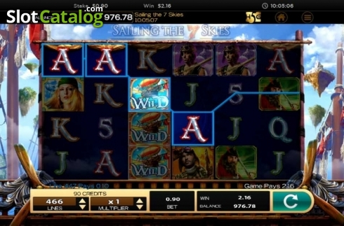 Obrazovka6. Sailing The 7 Skies (Video Slot z High 5 Games)