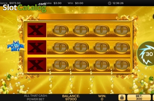 Reel Screen. All That Cash Power Bet (Video Slot from High 5 Games)