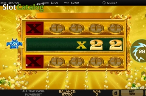 Win Screen 1. All That Cash Power Bet (Video Slot from High 5 Games)