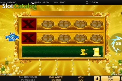 Win Screen 2. All That Cash Power Bet (Video Slot from High 5 Games)