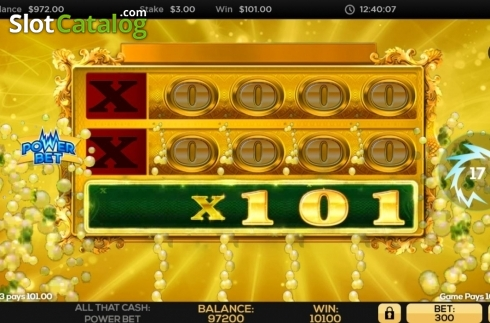 Win Screen 3. All That Cash Power Bet (Video Slot from High 5 Games)