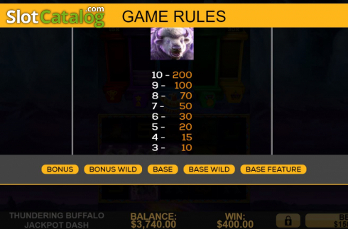 Spiele Thundering Buffalo: Jackpot Dash - Video Slots Online