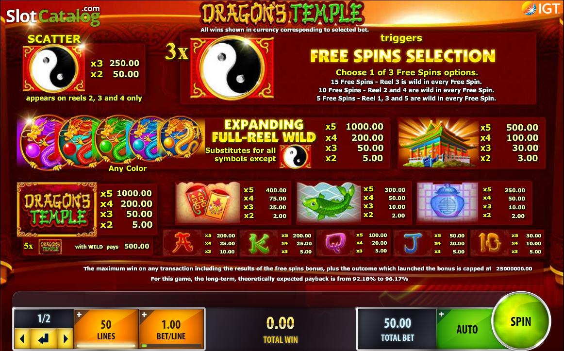Dragons Temple - Casumo Casino
