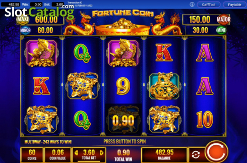 Win Screen 4. Fortune Coin (Video Slots from IGT)