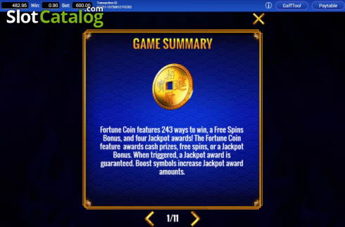 Info. Fortune Coin (Video Slots from IGT)