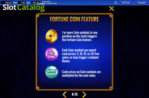 Features 2. Fortune Coin (Video Slots from IGT)