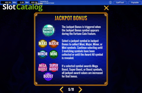 Features 3. Fortune Coin (Video Slots from IGT)
