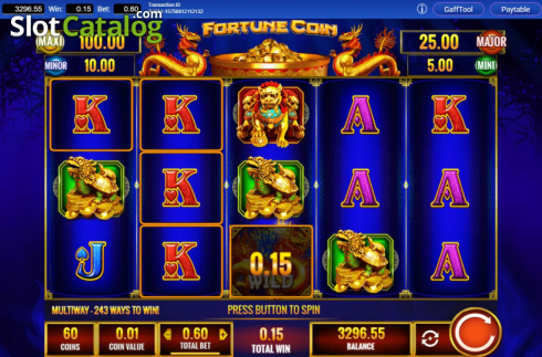 Win Screen 1. Fortune Coin (Video Slots from IGT)
