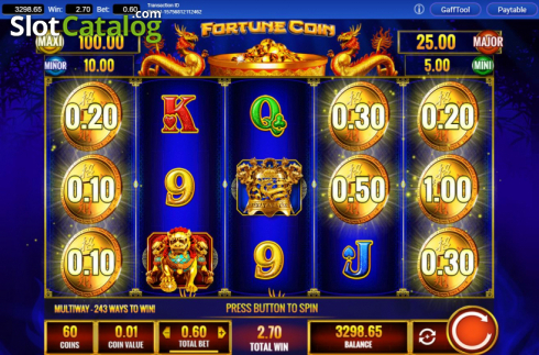 Win Screen 2. Fortune Coin (Video Slots from IGT)