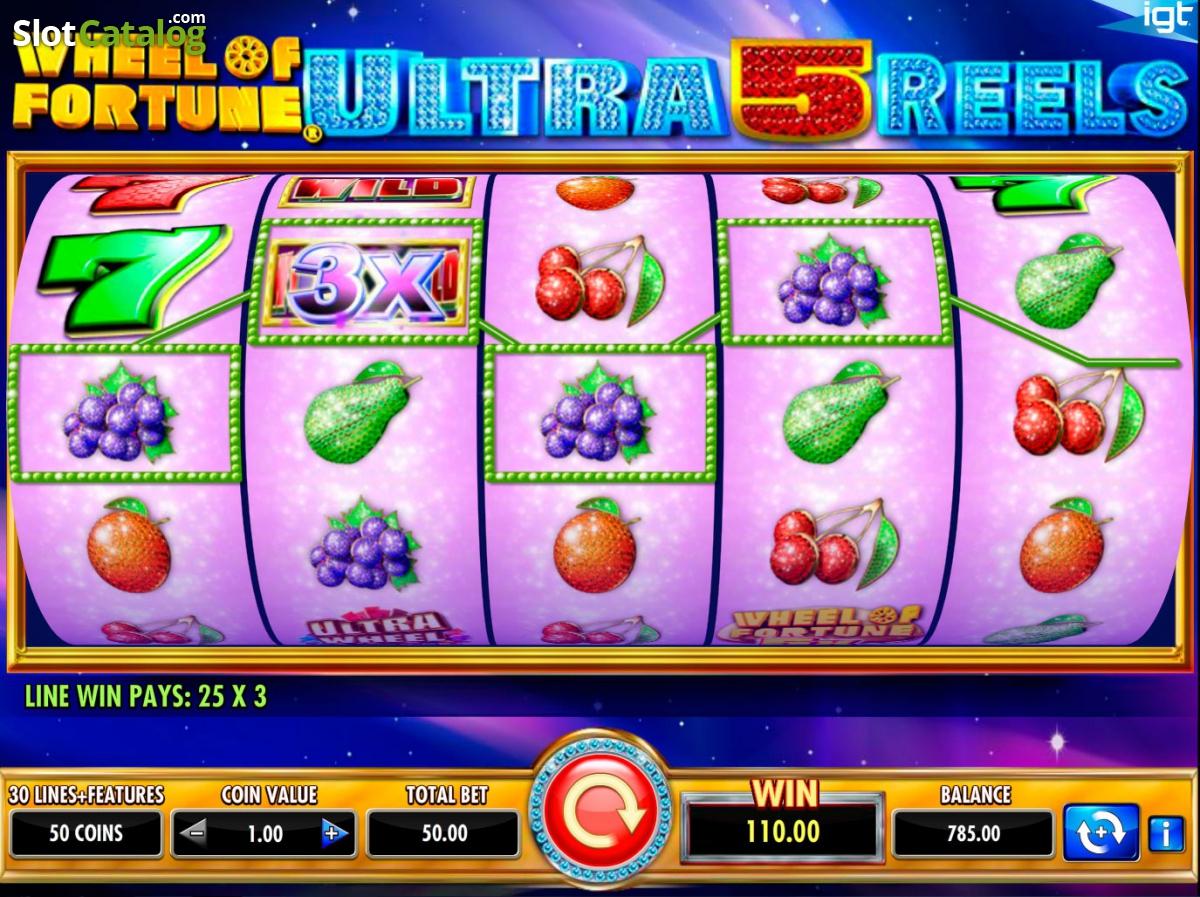 wheel of fortune ultra 5 reels casino