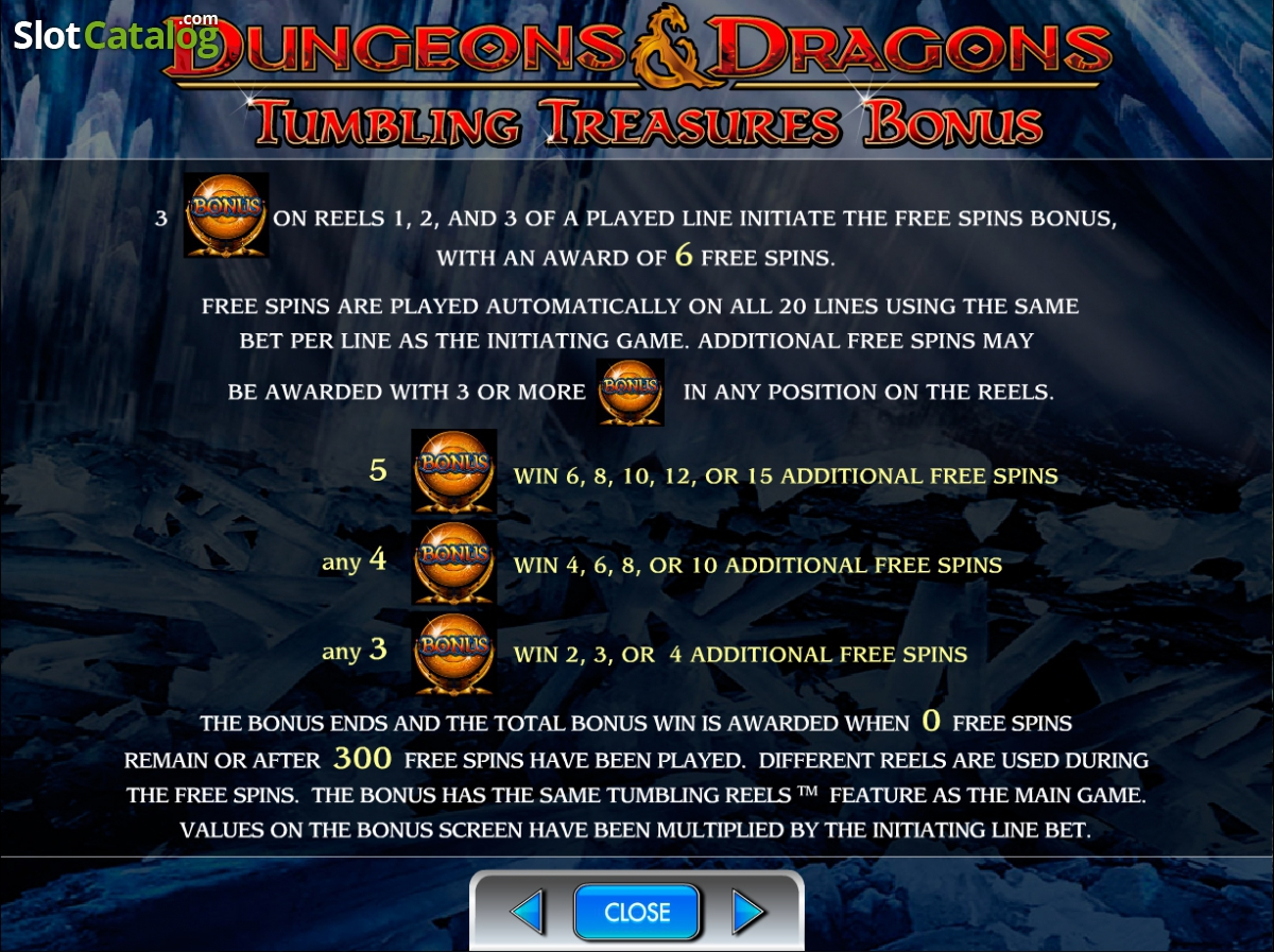 dungeons and dragons crystal caverns casino