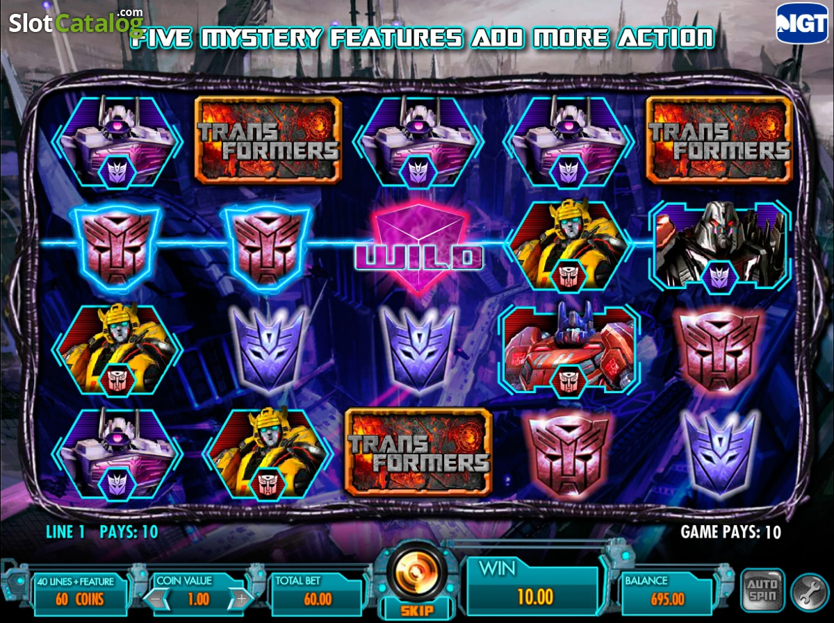 Play Transformers Battle For Cybertron Slot Machine Free In Demo