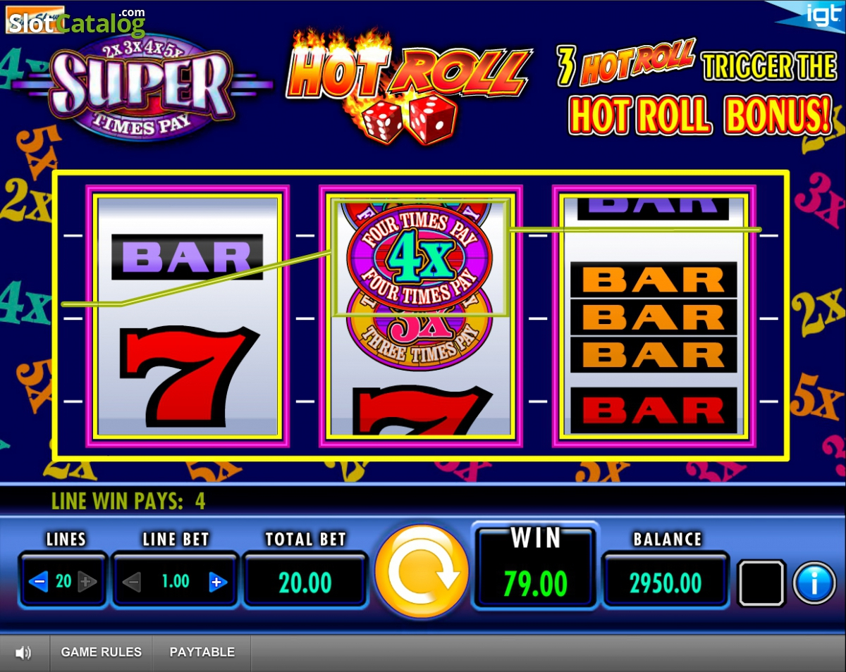 Super Times Pay Hot Roll™ Slot Machine Game to Play Free in IGTs Online Casinos