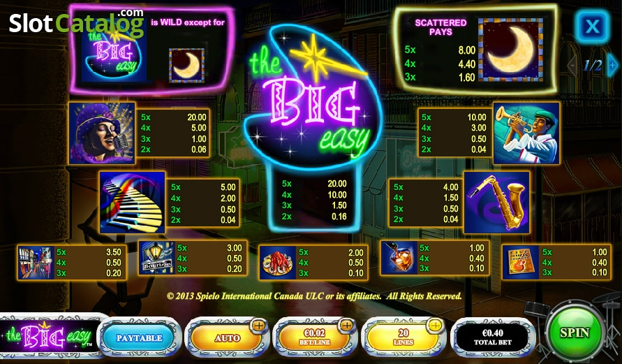 Spiele The Big Easy - Video Slots Online