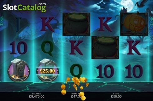 Win Screen 4. Book of Halloween (Video Slots from Inspired Gaming)