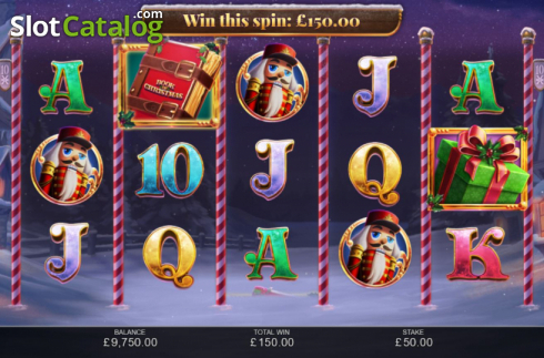 Win Screen 1. Book of Christmas (Video Slot from Inspired Gaming)