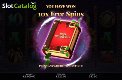 Free Spins 1. Book of Christmas (Video Slot from Inspired Gaming)