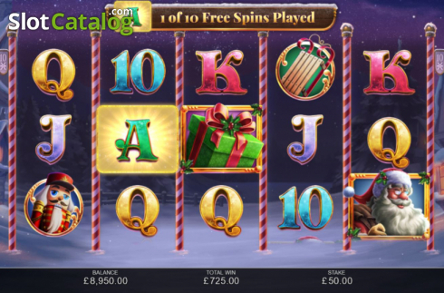 Free Spins 2. Book of Christmas (Video Slot from Inspired Gaming)