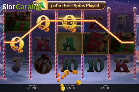 Free Spins 3. Book of Christmas (Video Slot from Inspired Gaming)