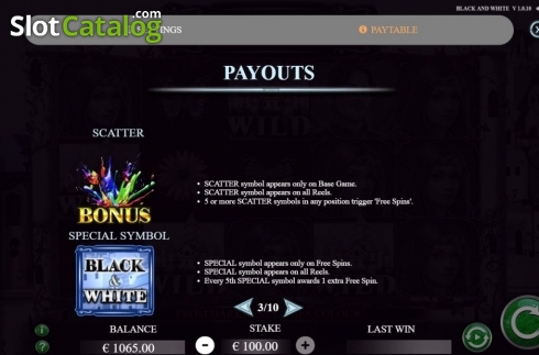 Features 1. Black and White (Jade Rabbit Studios) (Video Slot from Jade Rabbit Studios)