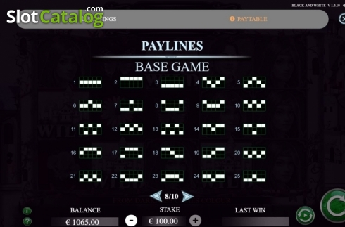 Paylines 1. Black and White (Jade Rabbit Studios) (Video Slot from Jade Rabbit Studios)