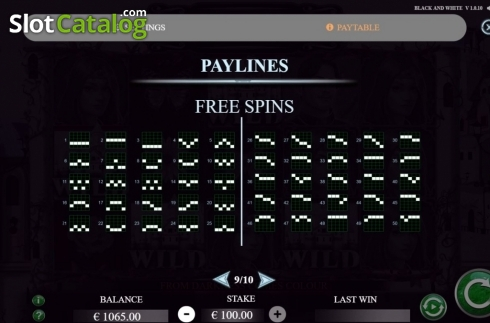 Paylines 2. Black and White (Jade Rabbit Studios) (Video Slot from Jade Rabbit Studios)